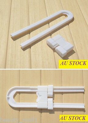 2-PACK Baby Toodler Child U Shaped Door Cupboard Cabinet Safety Lock/ Latch