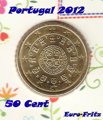 Portugal 2012 aus off. KMS  50 Cent   sehr selten ~**~