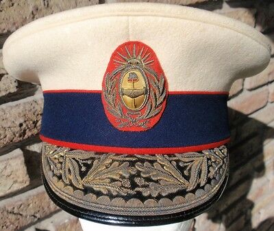ARGENTINA ARMY GENERAL DE DIVISION FULL DRESS 1904 EMBROIDERY CAP HAT RARE