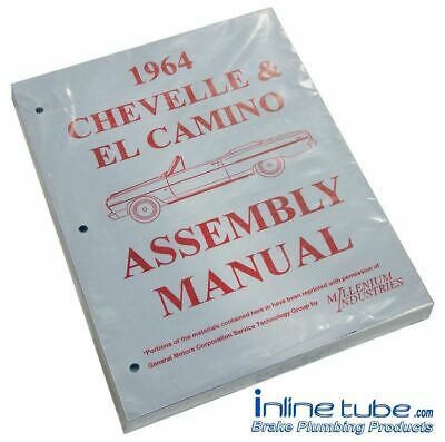 1964 Chevelle Elcamino SS Factory Assembly Rebuild Instruction Manual Book 390pg