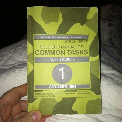 STP 21-1-SMCT Soldier's Manual Of Common Tasks Oct 1994 Fast Free Ship!