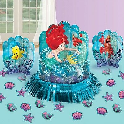 Disney Little Mermaid Ariel Birthday Party Centerpiece confetti Table Decor Kit