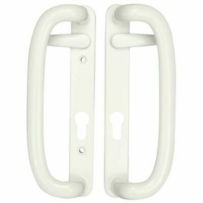 Mila Trinity Upvc Patio Door Handle - White or Brass