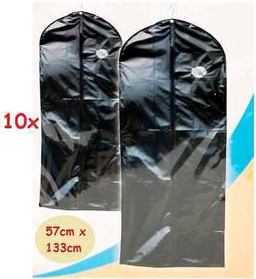 10 x New Set Of Blk Peva Dress Garment Suit Covers Clothes Bag Travel Business