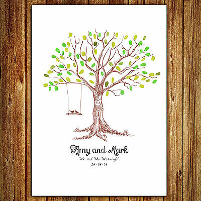 Personalised Wedding Fingerprint Tree  - Swing
