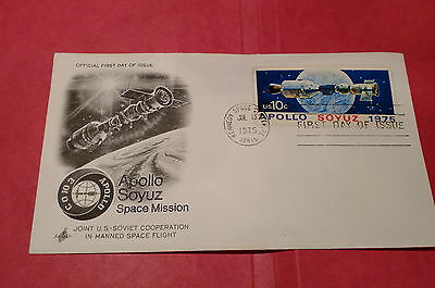 Rare Apollo Soyuz 1975 Art Craft First Day Cover with 1 stamp