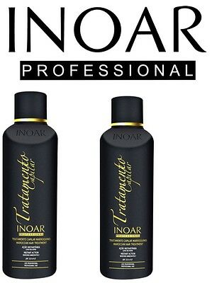 Inoar Moroccan Brazilian Keratin Treatment Blow Dry Hair Straightening 500Ml St2