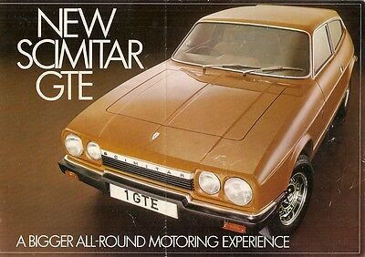 Reliant Scimitar GTE 1975-76 UK Market Launch Foldout Sales Brochure