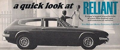 Reliant Regal Rebel Scimitar GT GTE TW9 1969-70 UK Market Foldout Sales Brochure