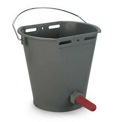CALF FEEDING BUCKET Complete with Fittings & Teat and Hanging Bracket Support