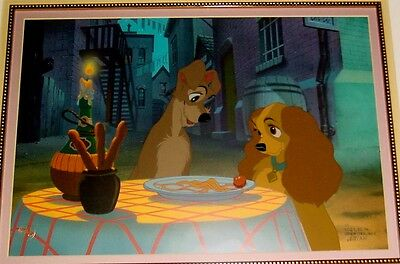 Disney Lady And The Tramp Cel BEAUTIFUL NIGHT Disney's Greatest Cell Very Rare