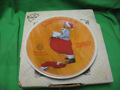 "Christmas 1980 Rockwell Society Collector Plate ""Scotty Plays Santa"""