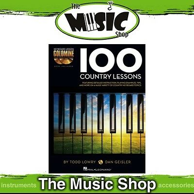 New '100 Country Lessons' Keyboard Lesson Goldmine Music Tuition Book & 2x CDs