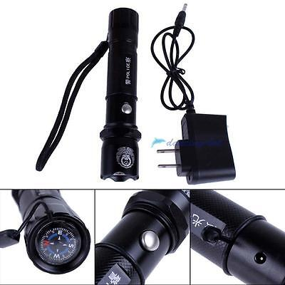 3800Mah 340LM 3w Police CREE Q3 LED Flashlight Set Torch 3 in 1 Camping Sport DH