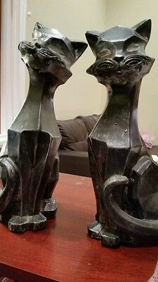 Vintage 1961 universal statuary corporation pair of cats