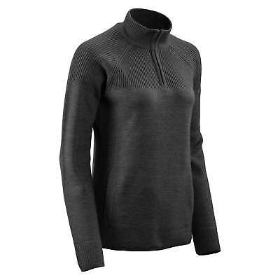 Kathmandu Rabrossa Womens 1/2 Zip High Neck Merino Wool Knitted Jumper v2 Black