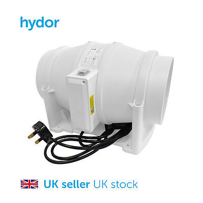Hydor Commercial 100mm Mixed Flow In-Line Extract Fan HIMF Hydroponics