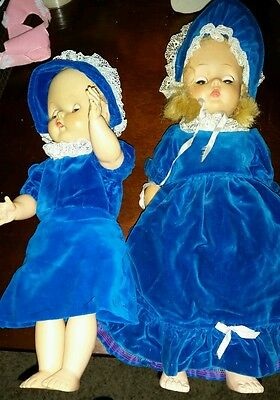 "Vintage 18"" Horsman Doll T-16 and 16"" doll"