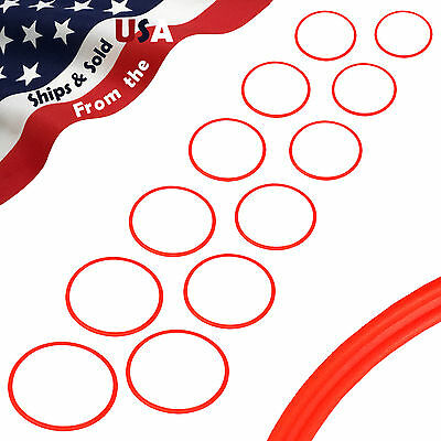 SET OF 12 ~ BlueDot Trading Speed and Agility Training Rings ORANGE