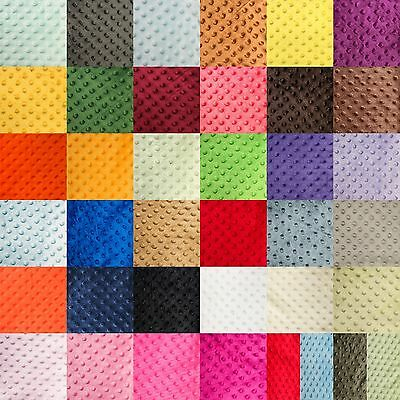 "Minky Minkee Chenille Dot Soft Fabric Cuddle 38 Color 60""w Sew Craft By The Yard"