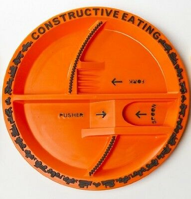 Constructive Eating Brand Construction themed Plate made in USA