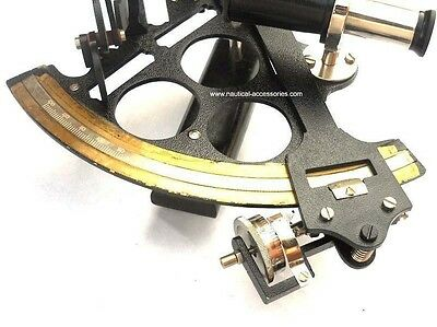 sextant Black finishing  Heavy Working brass nautical sextant WITH MICROMETER