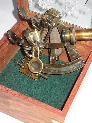 5 Inch- GERMAN DESIGN - Kelvin & Hughes BEAUTIFUL SEXTANT WITH BOX