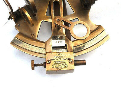 "German 4"" Antique Nautical sextant - 2 extra telescope sextant with wood case"
