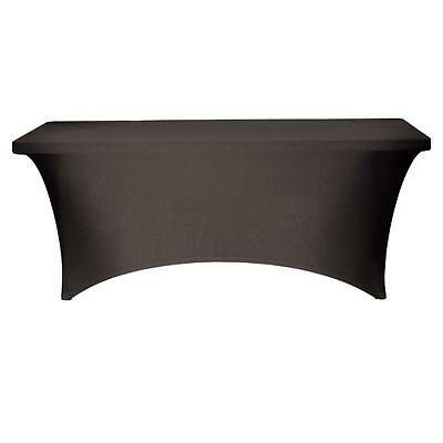 BLACK 6ft RECTANGLE SPANDEX TABLECLOTHS WITH ARCH/NO ARCH EVENTS CONFRENCES