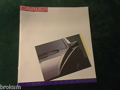"""Mint 1986 Chevrolet Chevy Cavalier Sales Brochure 24 Pages 11"""" X 12"""" New (Box304"""