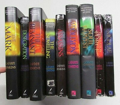 Box Lot of 10 books Left Behind - Incomplete set  - Christian