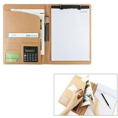 Good New PU Leather & A4 Notepad Business Conference Folder Organizer Planner