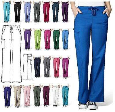 WonderWink Flex 5308 PETITE Flare Cargo Scrub Pant All Sizes & Colors WonderFlex