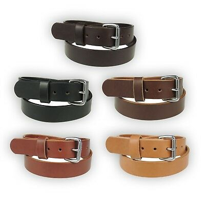 """50WS_1 1/2"""" Wide_HEAVY DUTY LEATHER GUN HOLSTER_WORK BELT_SS Buckle_AMISH MADE"""
