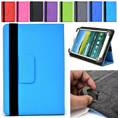 "Universal 7|E Adjustable Folding Folio Cover & Screen Guard fits 7"" Tablet-s"