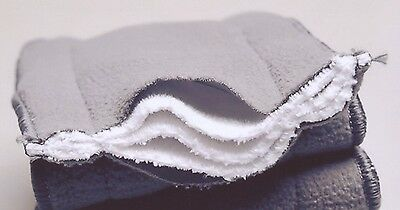 12x  5 Layers Bamboo Washable Reusable Charcoal Nappy Inserts For MCN 14*34cm