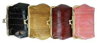 New EEL SKIN Medium Coin/Change/Makeup/Cosmetic Purse/Bag/Case/Holder/Wallet