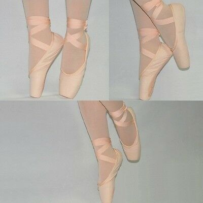 SS04# Women's and Girls Pink Canvas Ballet Pointe Shoes Lots of Sizes