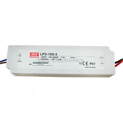 Mean Well LPV  60W/100W  5V/36V/48V Power Supply LED Driver Water & Dust-proof