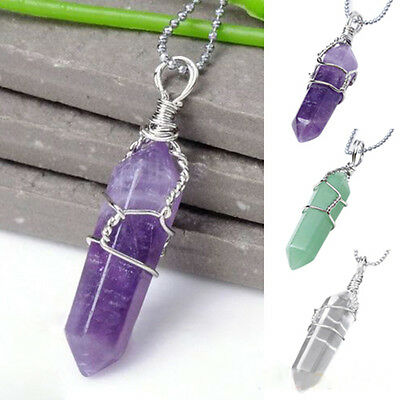 Cool Natural Crystal Quartz Healing Chakra Bead Stone Pendant For Necklace