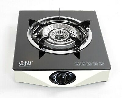 Portable Gas Stove 1 Burner Single Glass LPG Cooktop Indoor Caravan 4.2kW NGB-S1