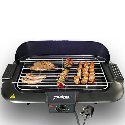 Electric Grill Barbecue BBQ Camping Barbecue smokeless  2000W Wind Shield NEW