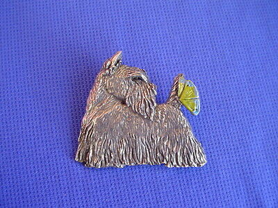 Scottish Terrier Pin Butterfly #26A Pewter Dog Jewelry b Cindy A. Conter SCOTTY