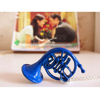 TV HIMYM How I Met Your Mother Blue french Horn Pendant Necklace Chain girl gift