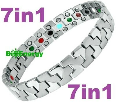 TITANIUM Magnetic COPPER Armband  Power Bracelet Health Bio 7in1 Bio GERMANIUM