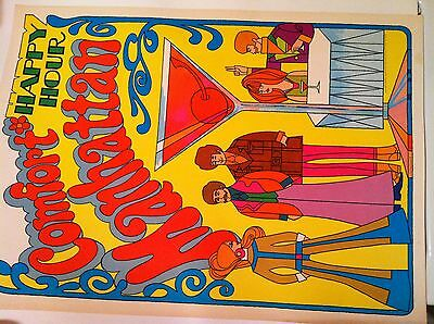 Vintage Southern Comfort Advertising Poster 60's/70's... 'Peter Max' Inspired