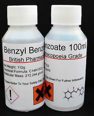 Benzyl Benzoate 99.9% Pharmaceutical Grade 50ml to 5000ml *Sweet Itch*