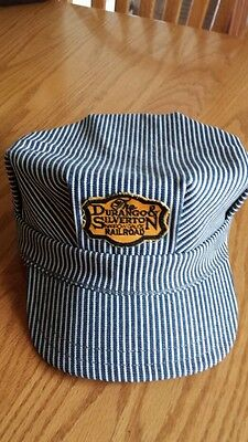 THE DURANGO & SILVERTON NARROW GAUGE RAILROAD TRAIN CONDUCTOR HAT BASEBALL CAP