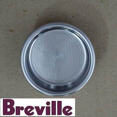 Genuine Breville Coffee Machine Two Cup Single Wall Filter Part Bes900/15.8