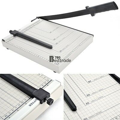 Heavy Duty A4 Paper Cutter Guillotine Trimmer Machine Home Office Metal